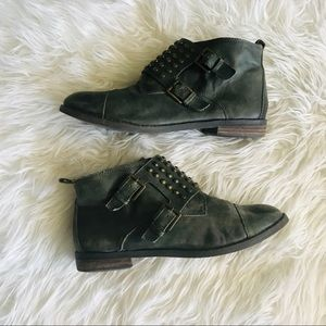 Lucky Brand leather stud booties